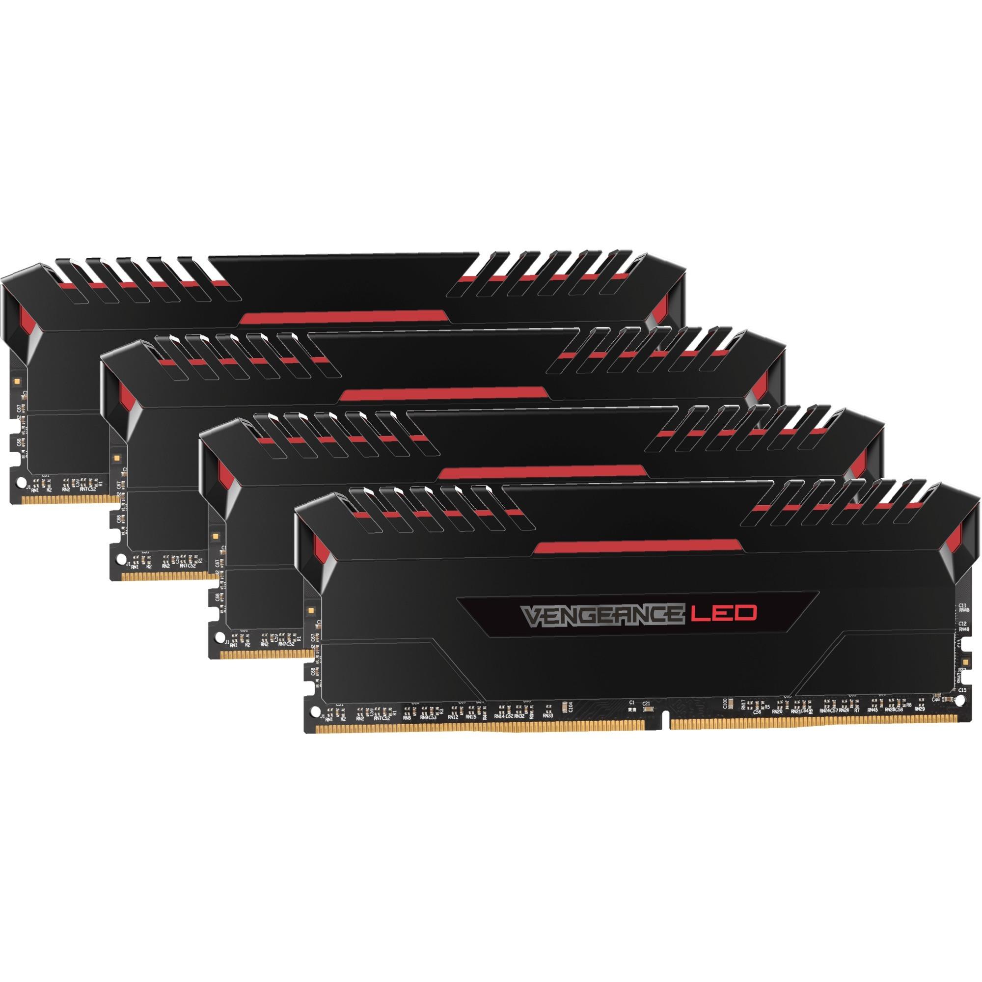 Vengeance LED Series 64 Go (4x 16 Go) DDR4 3200 MHz CL16, Mémoire