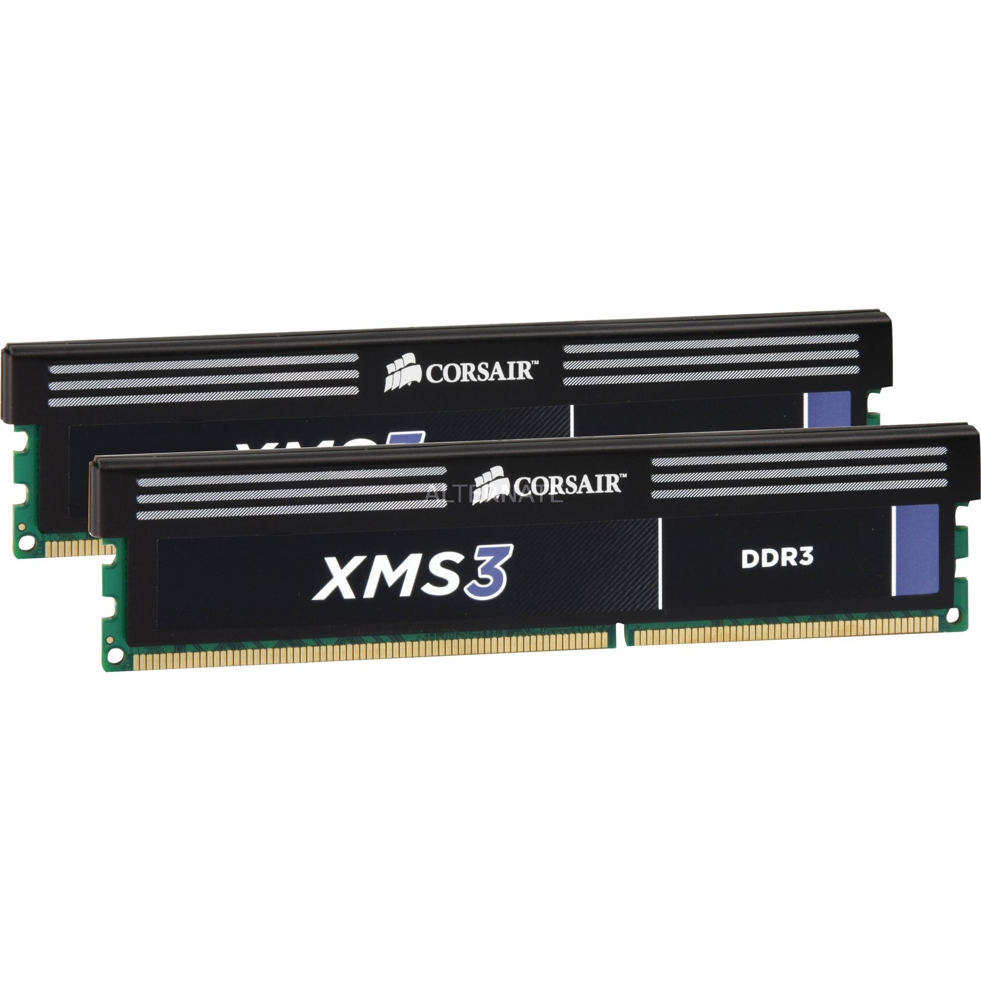 XMS3 8 Go (2x 4 Go) DDR3 1333 MHz CL9, Mémoire