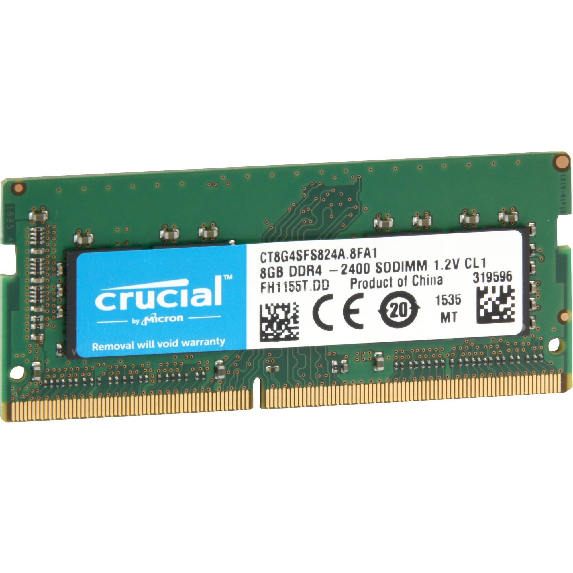 8Go DDR-2400, Mémoire