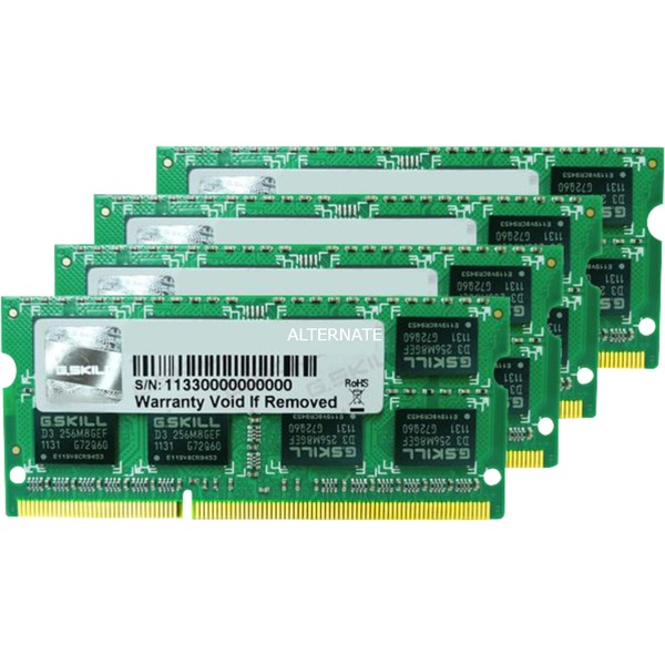 16 Go DDR3-1333 Quad-Kit