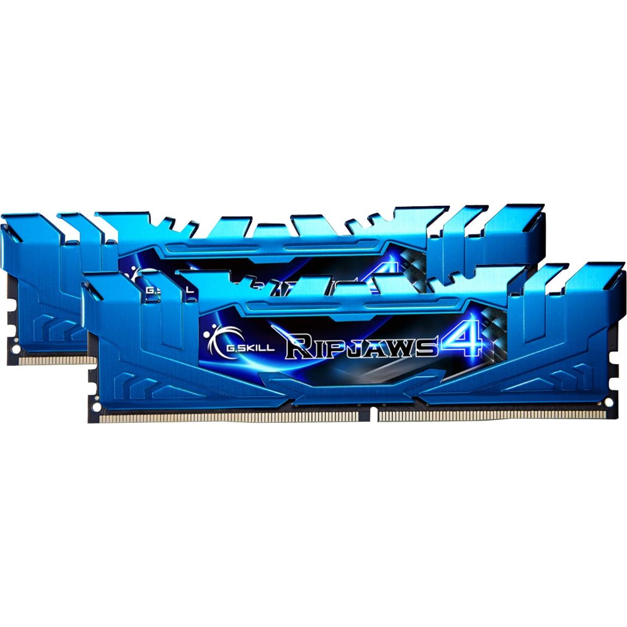 D4 8Go 3000-15 Ripjaws 4 Blue K2, Mémoire
