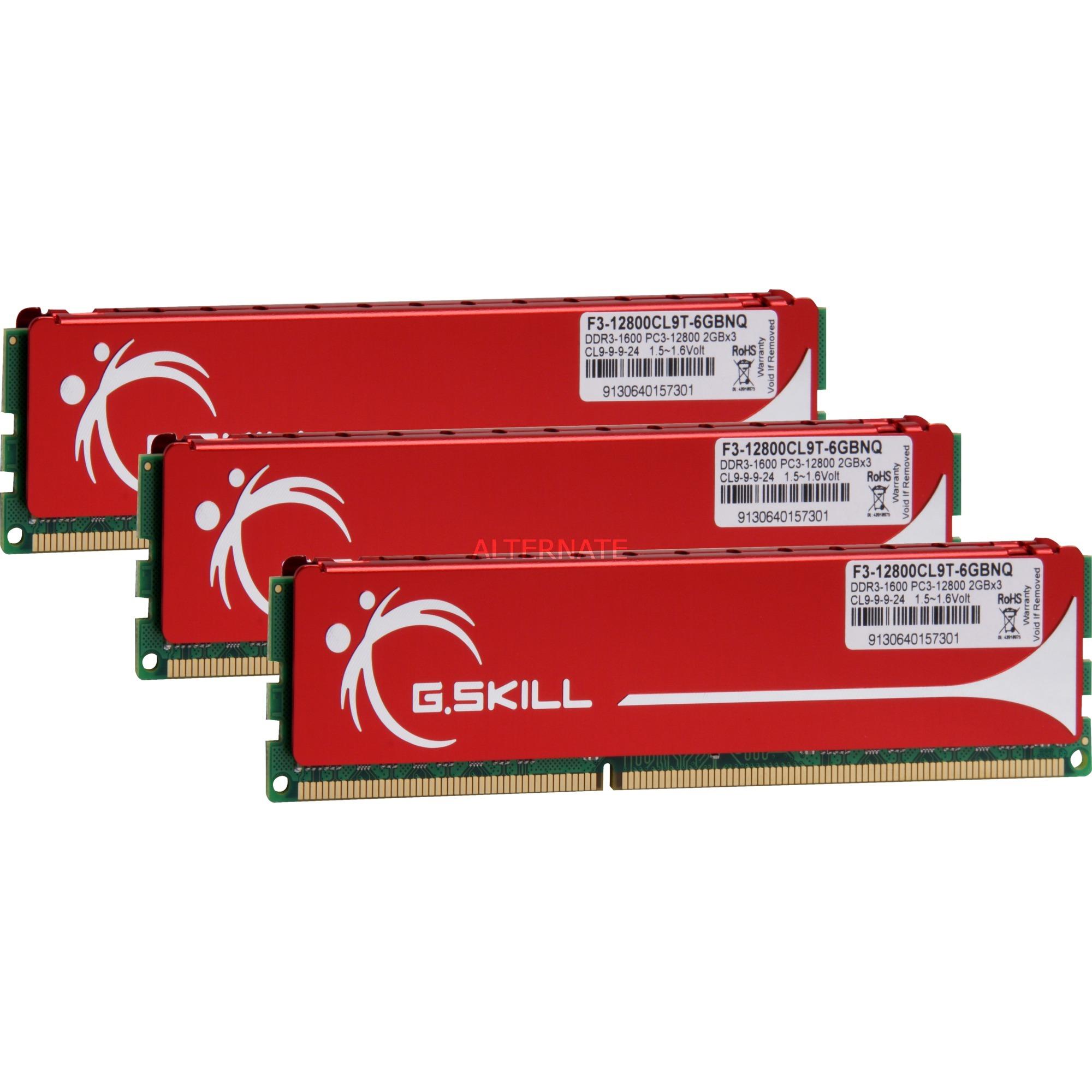 NQ DDR3 PC 12800 CL9 6GB kit 6Go DDR3 1600MHz ECC module de mémoire
