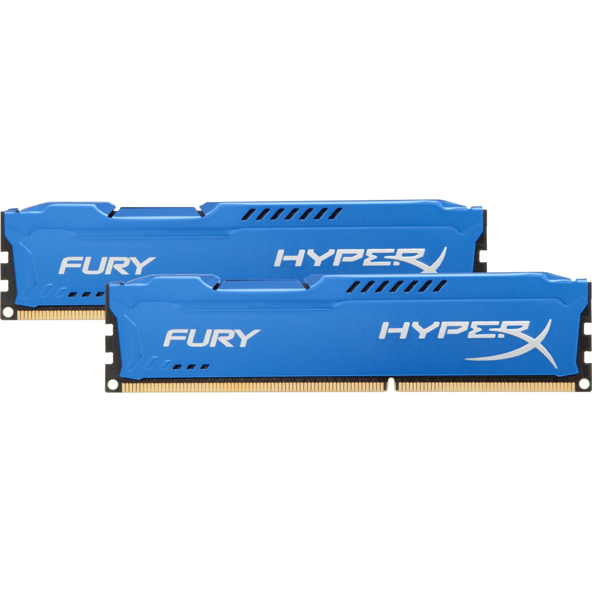 Fury 8 Go (2x 4Go) DDR3 1600 MHz CL10, Mémoire