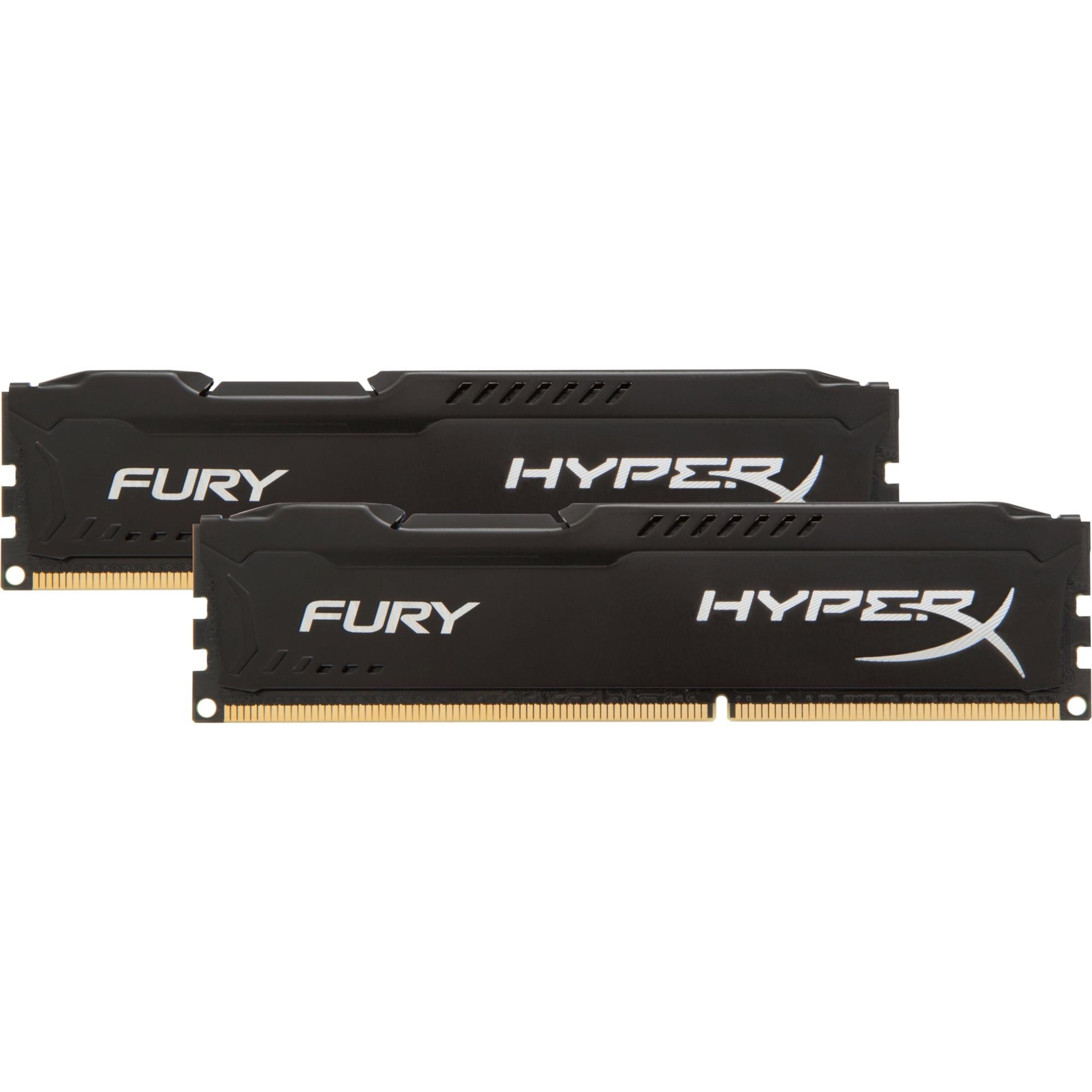Fury 8 Go (2x 4Go) DDR3 1866 MHz CL10, Mémoire