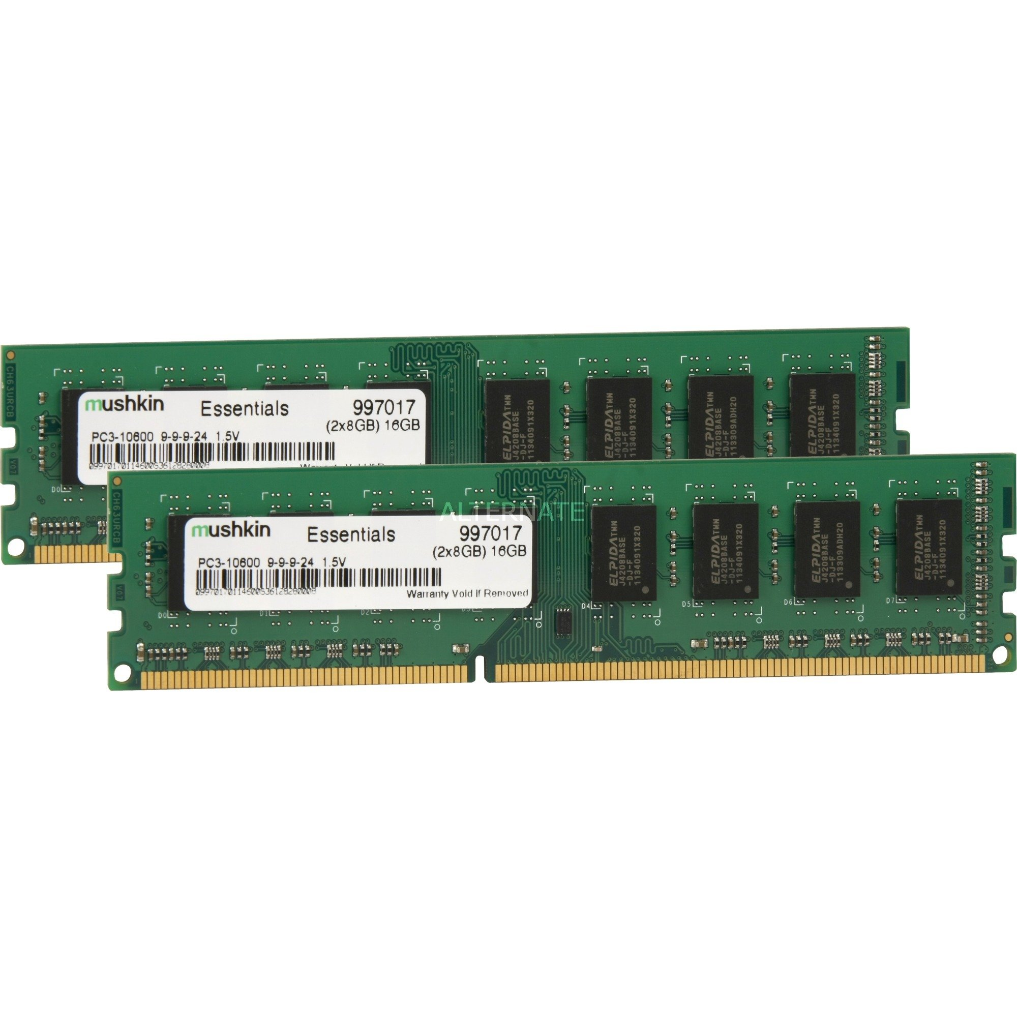 DIMM 16GB DDR3L-1600 Kit
