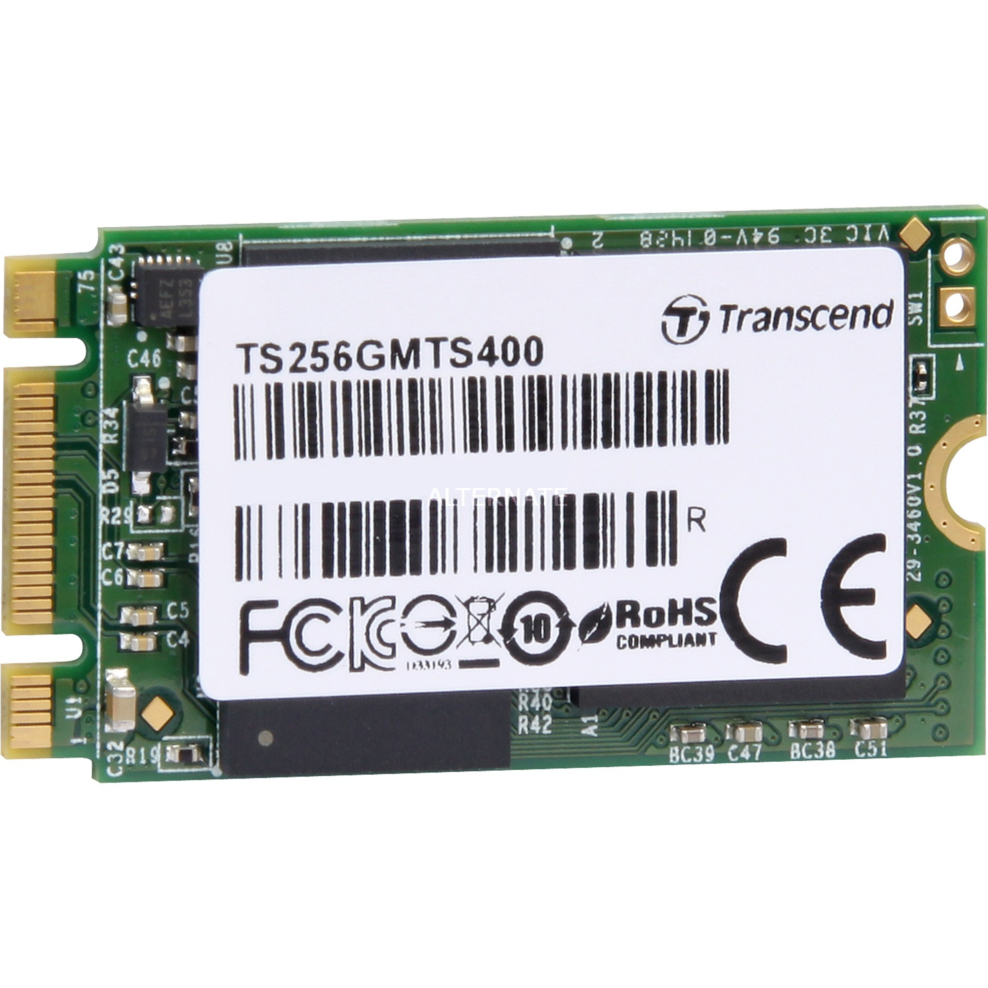 256GB MTS400 M.2 SSD 256Go M.2 Série ATA III