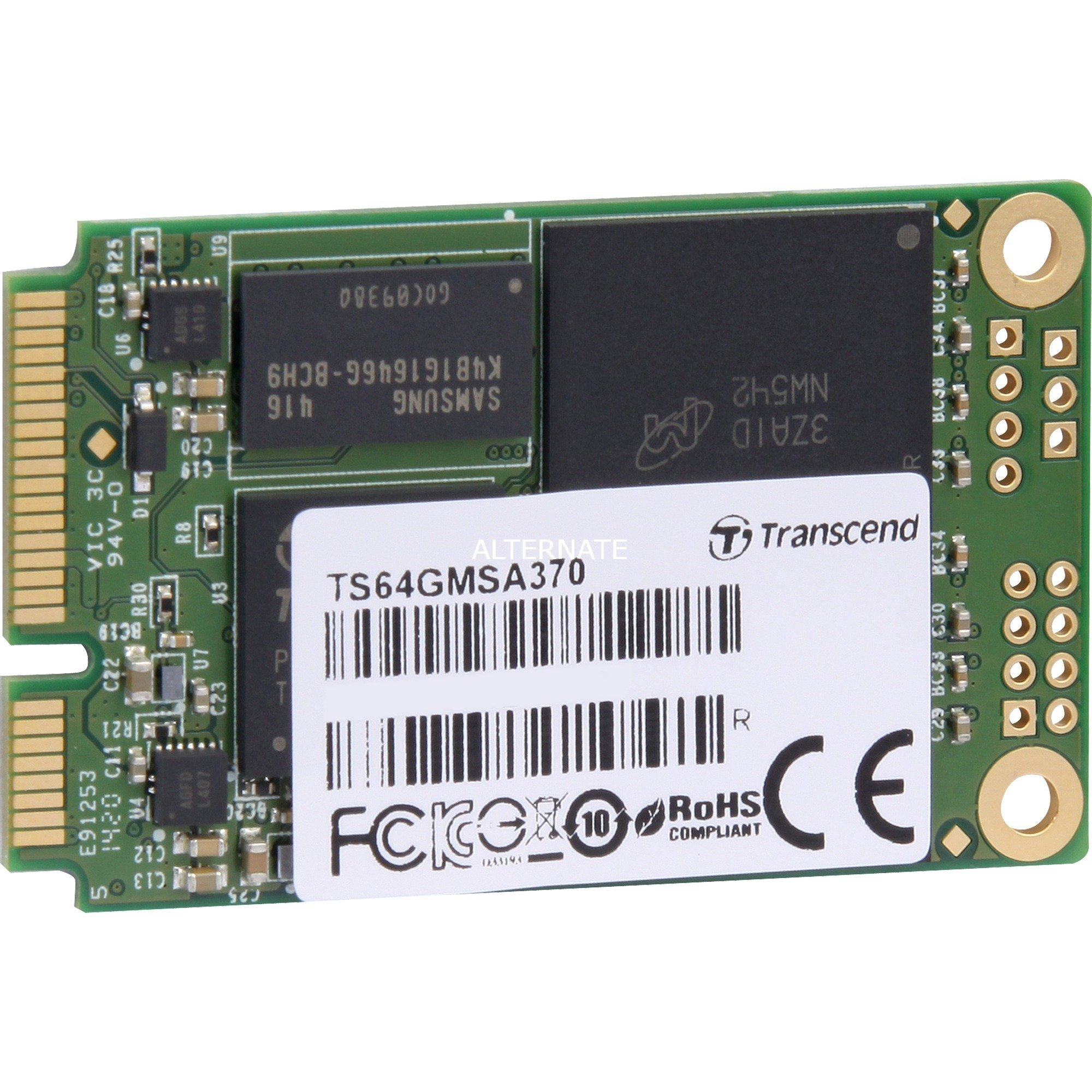 64GB MSA370 64Go Mini-SATA, SSD
