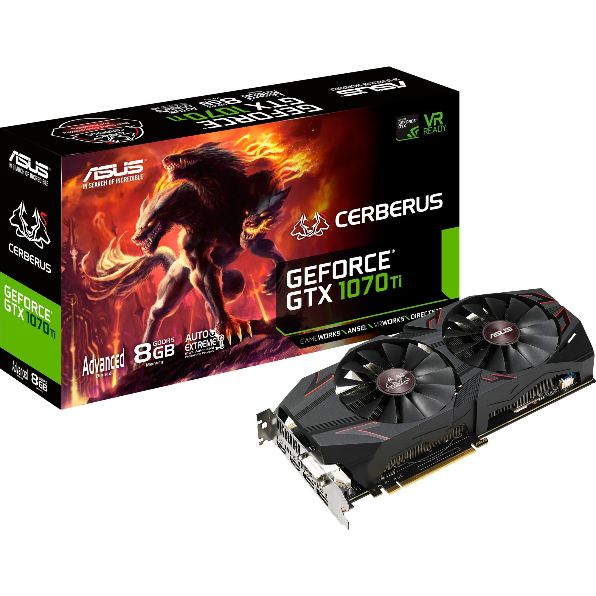 CERBERUS-GTX1070TI-A8G GeForce GTX 1070 Ti 8Go GDDR5, Carte graphique