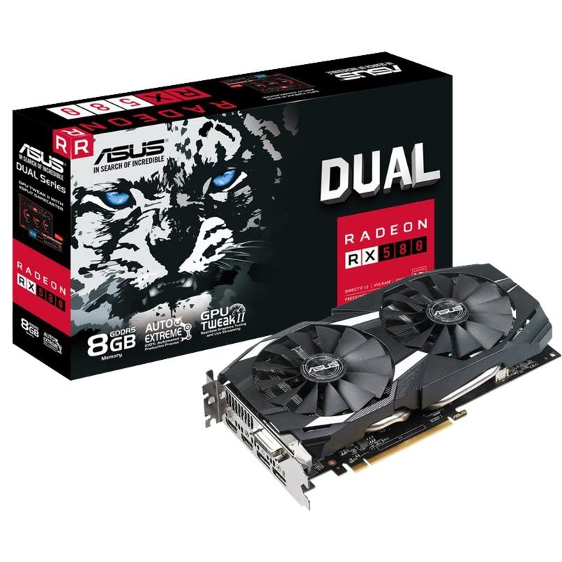 DUAL-RX580-8G Radeon RX 580 8Go GDDR5, Carte graphique