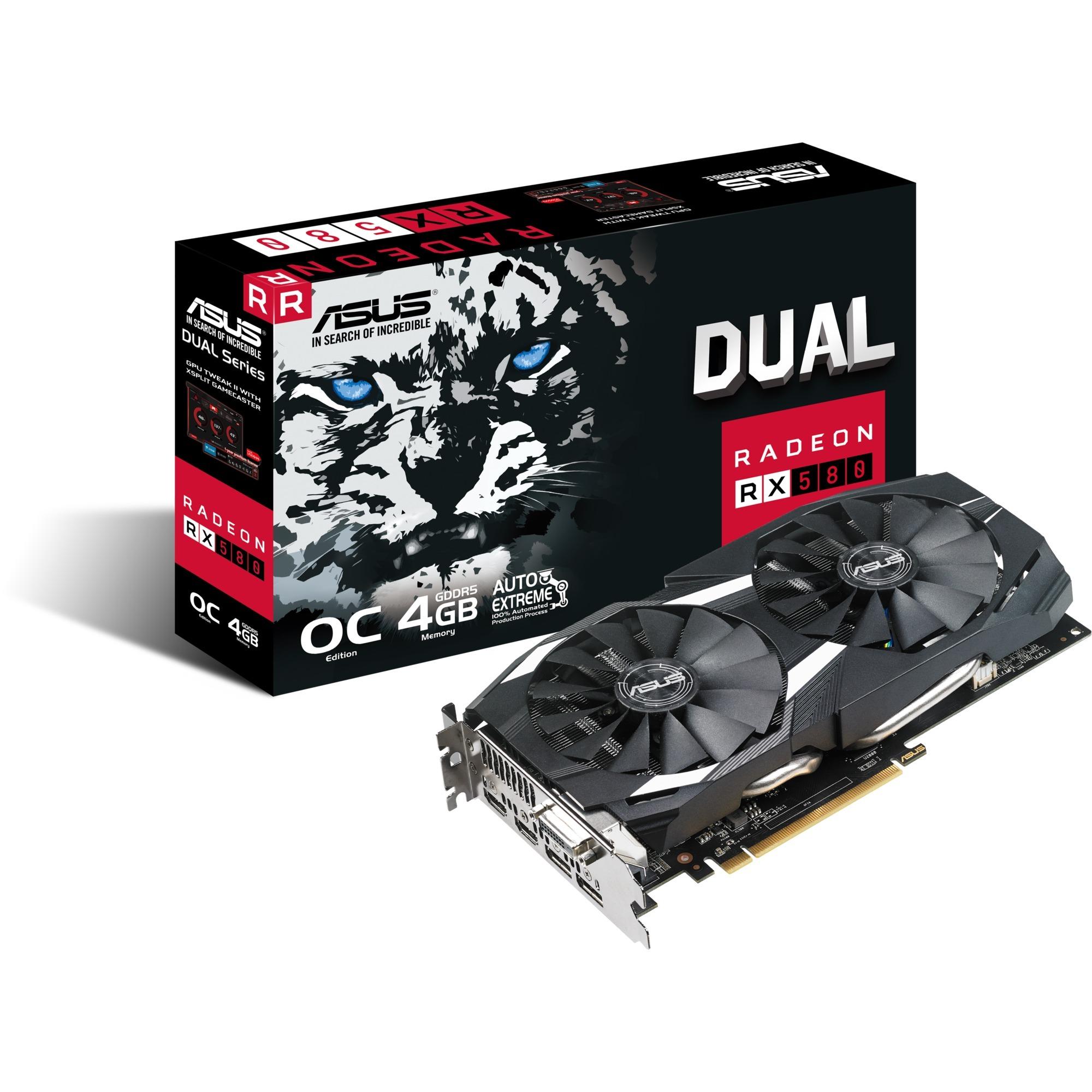 DUAL-RX580-O4G, Carte graphique