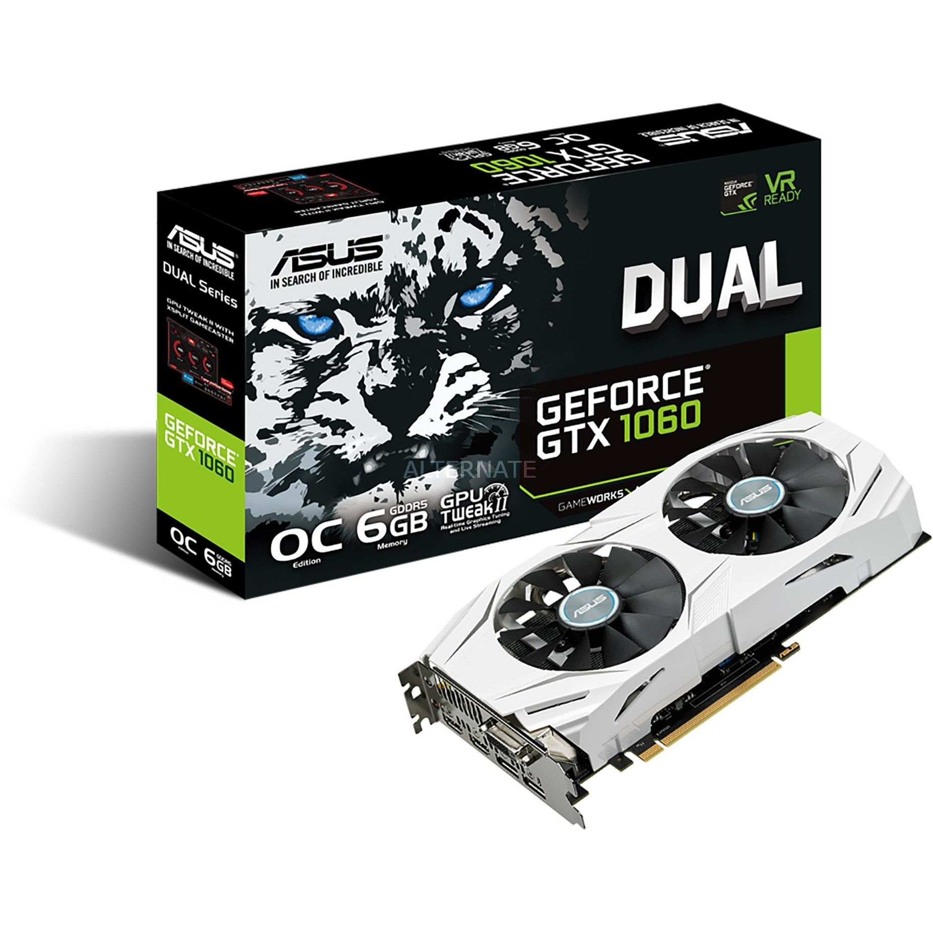 GeForce GTX 1060 DUAL O6G, Carte graphique