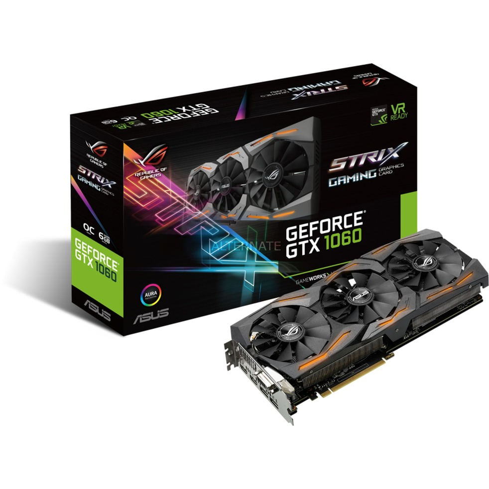 ROG GeForce GTX 1060 Strix OC Gaming 6G, Carte graphique