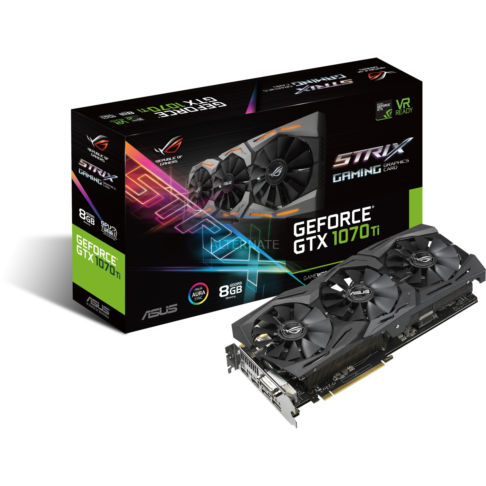 ROG GeForce GTX 1070 Strix Gaming 8G, Carte graphique