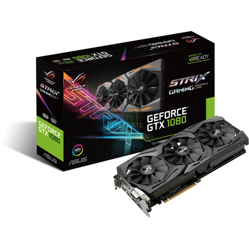 ROG GeForce GTX 1080 Strix Gaming 8G, Carte graphique