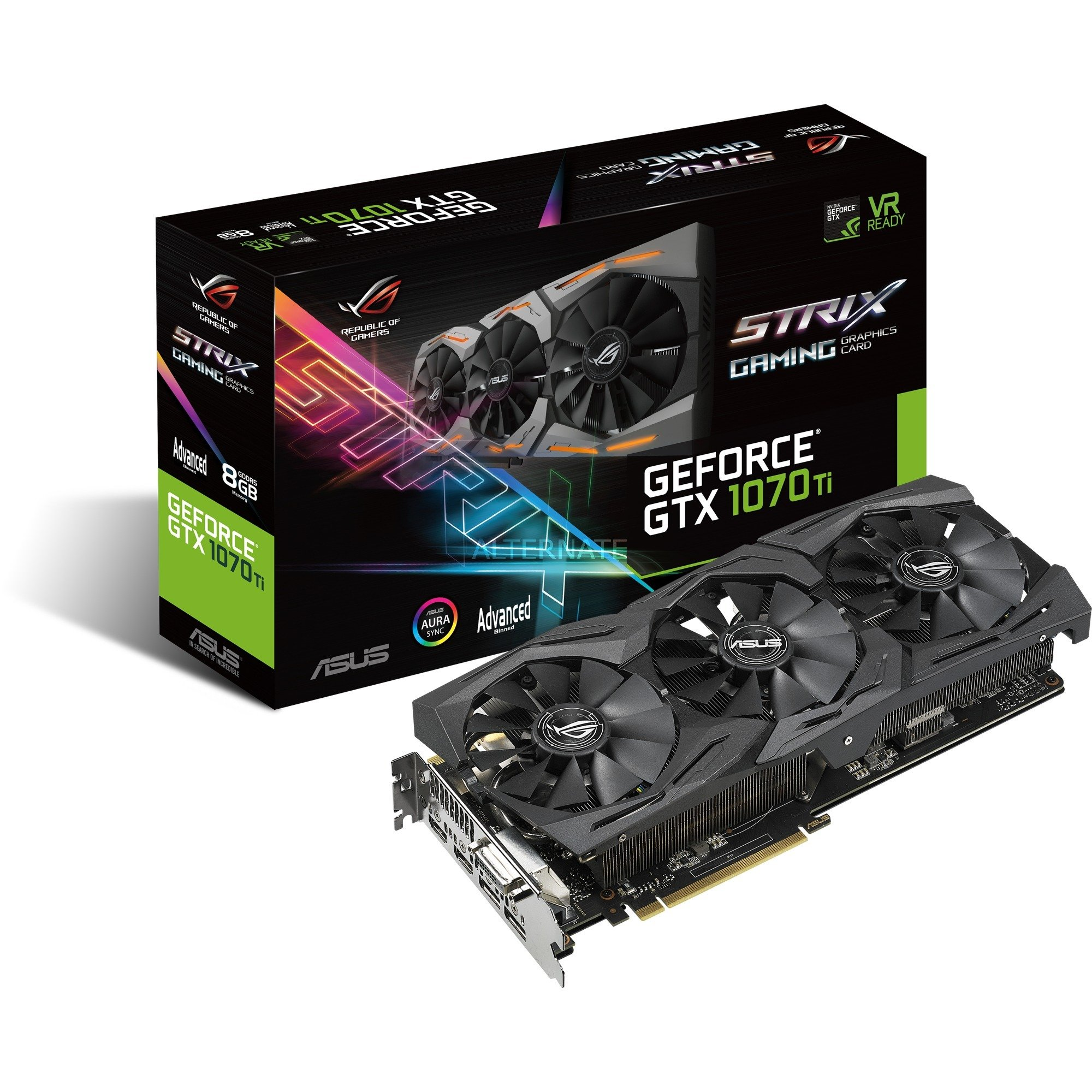ROG STRIX GeForce GTX 1070 Ti GAMING Advanced, Carte graphique