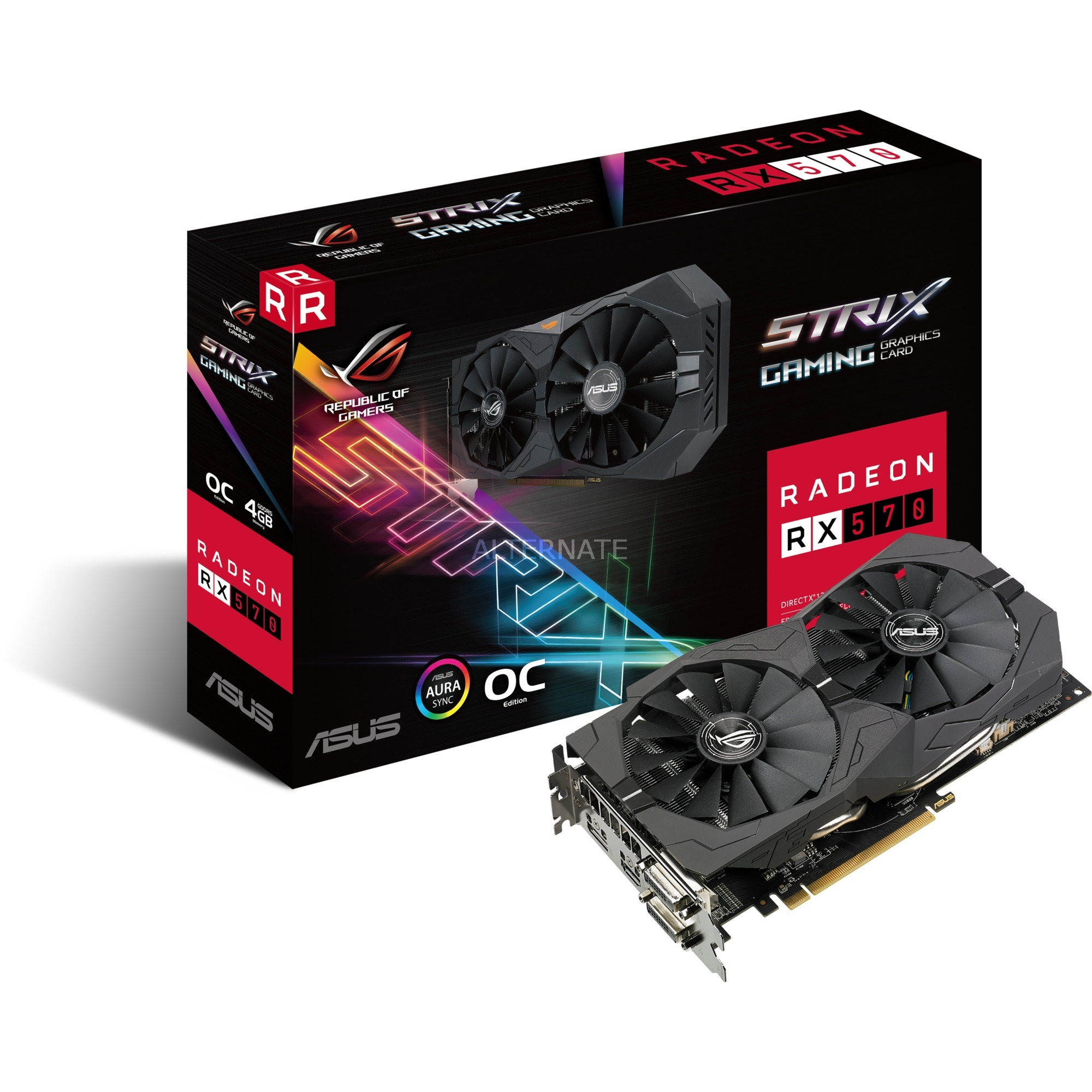 ROG-STRIX-RX570-O4G-GAMING, Carte graphique