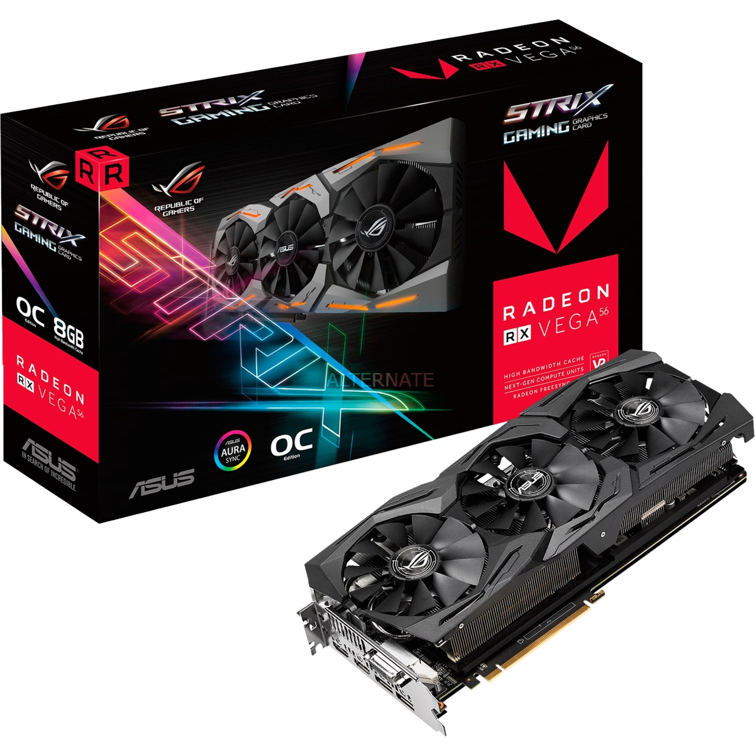 ROG-STRIX-RXVEGA64-O8G-GAMING Radeon RX Vega 64 8Go, Carte graphique