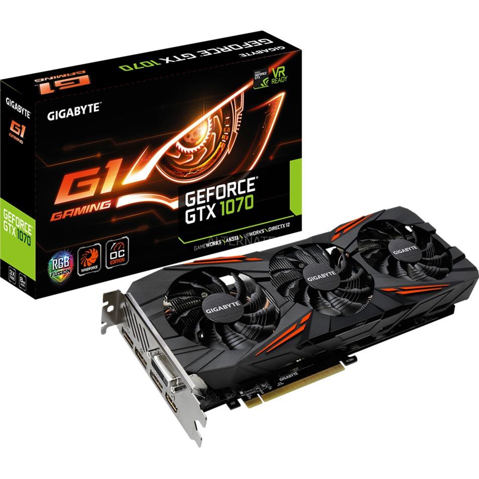 GeForce GTX 1070 G1 Gaming 8G Rev. 2, Carte graphique