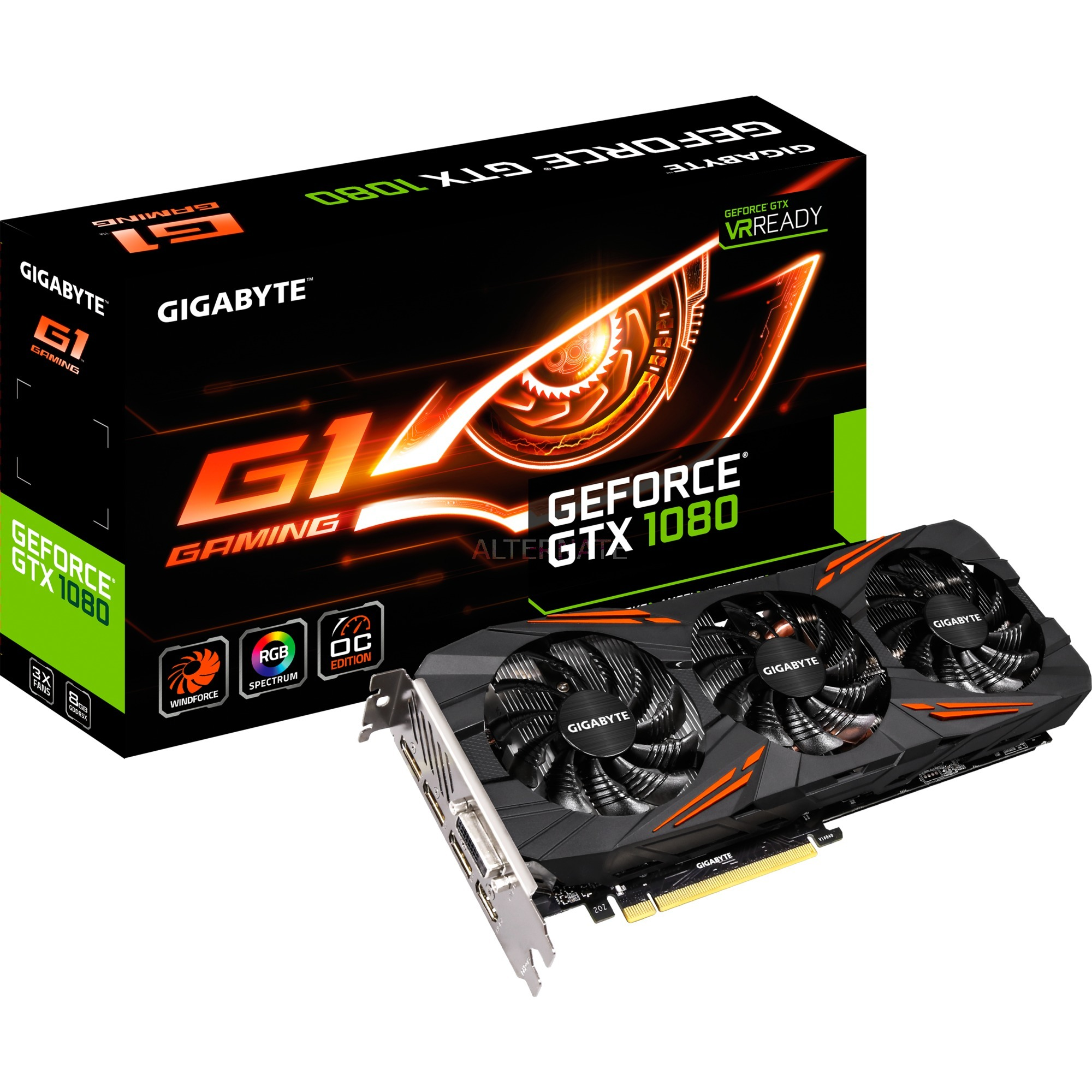 GeForce GTX 1080 G1 Gaming, Carte graphique