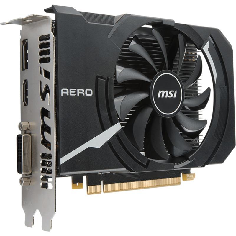 GeForce GTX 1050 AERO ITX 2G OCV1 GeForce GTX 1050 2Go GDDR5, Carte graphique