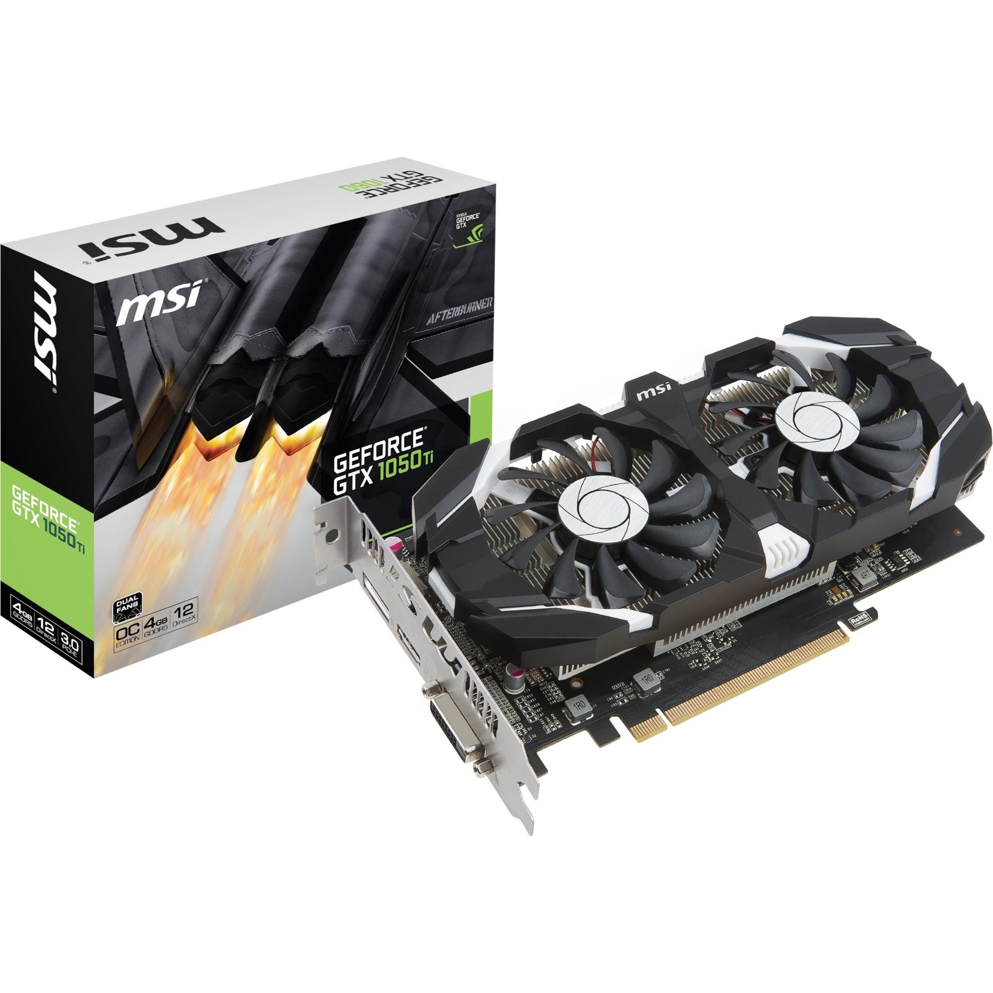 GeForce GTX 1050 Ti 4GT OC GeForce GTX 1050 Ti 4Go GDDR5, Carte graphique