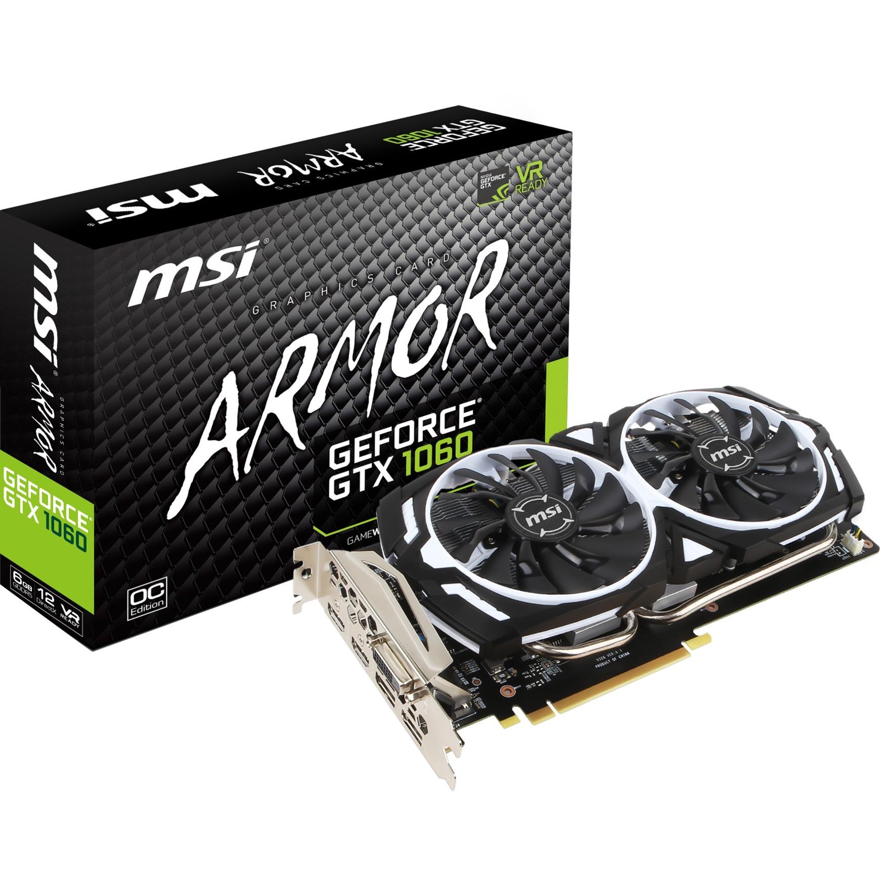 GeForce GTX 1060 ARMOR 6G OCV1 GeForce GTX 1060 6Go GDDR5, Carte graphique
