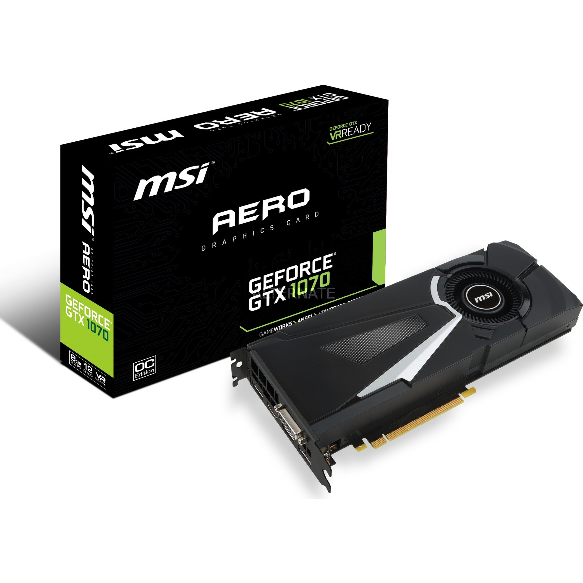 GeForce GTX 1070 AERO 8G OC, Carte graphique