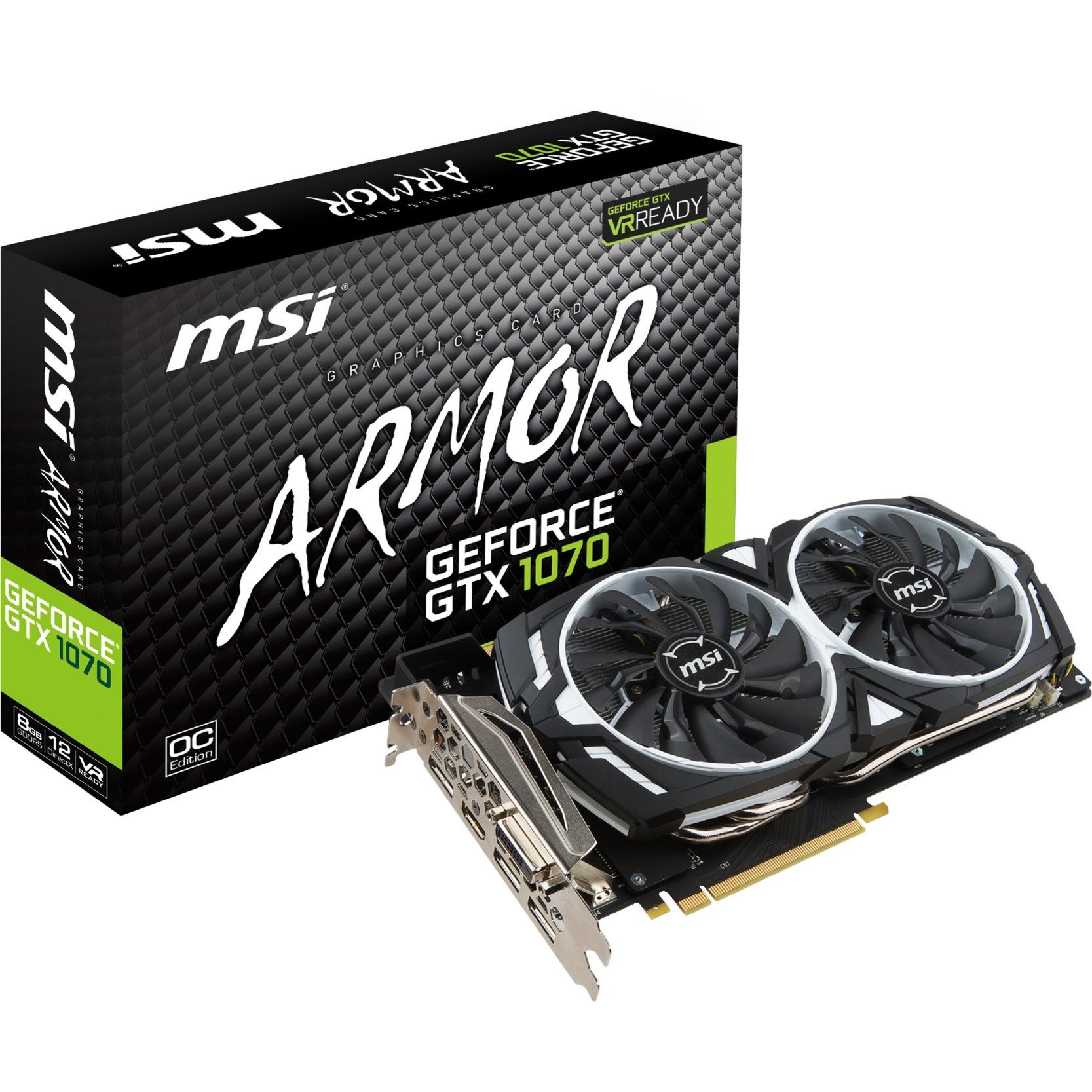GeForce GTX 1070 ARMOR 8G OC, Carte graphique
