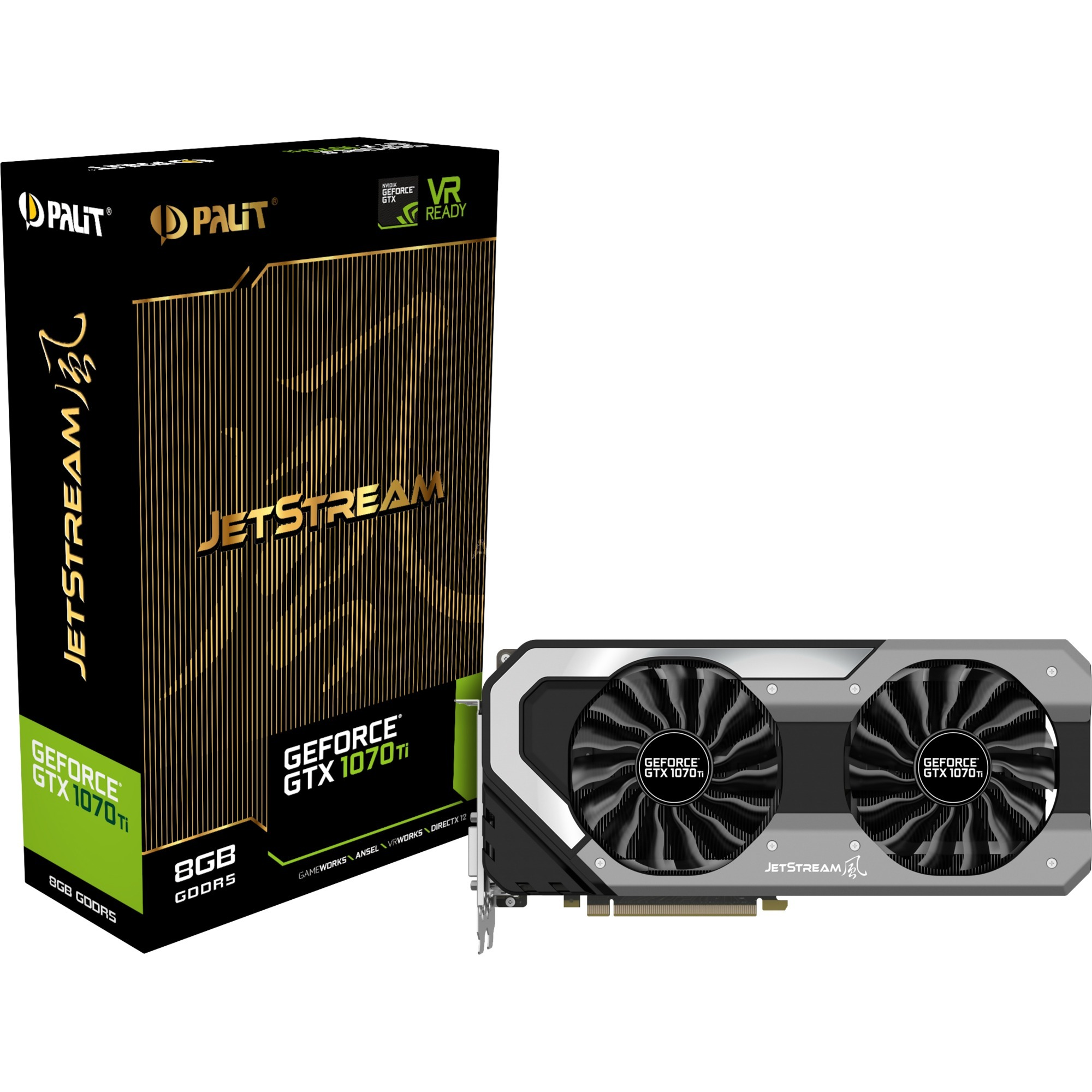 8Go D5 GTX 1070 Ti Jetstream, Carte graphique