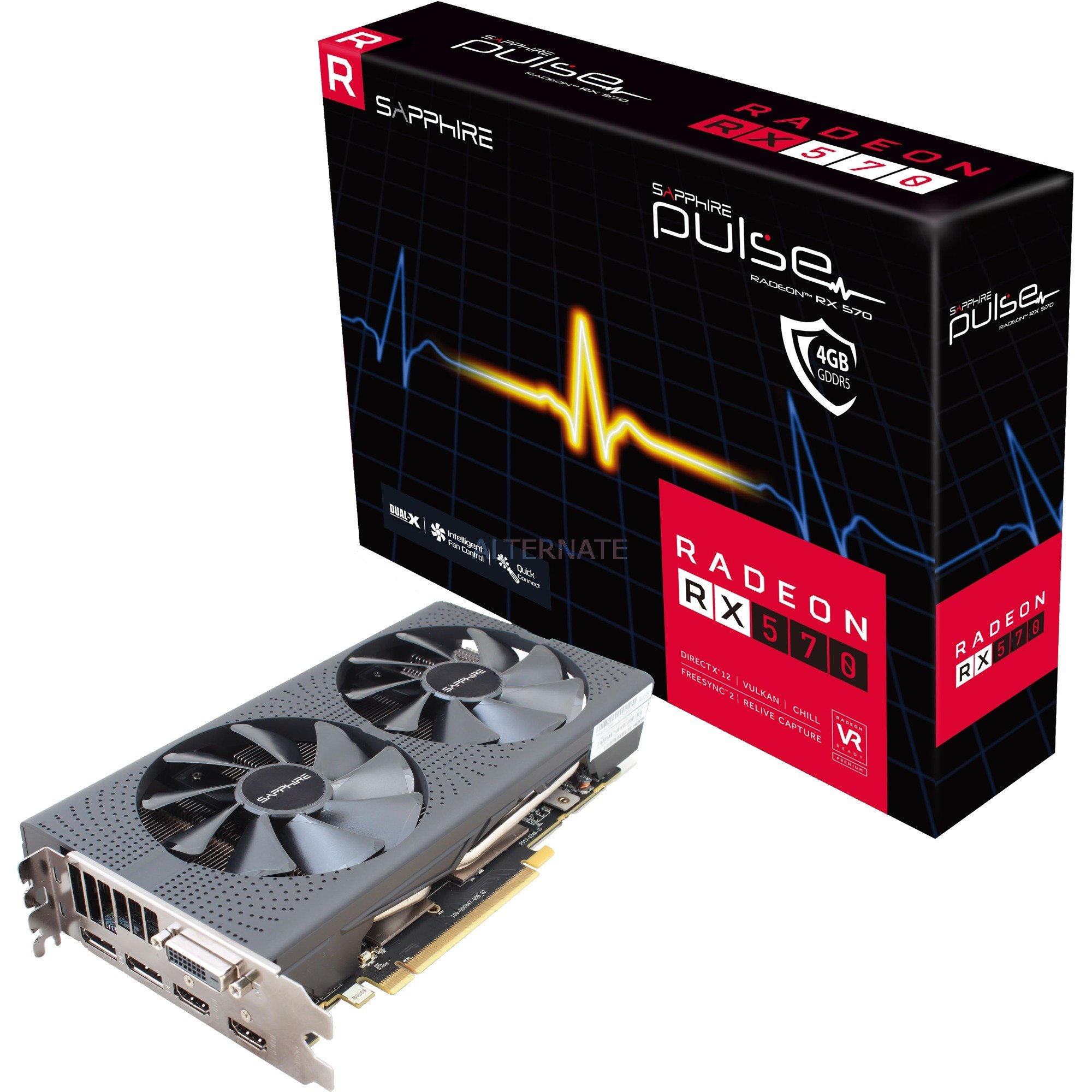 Pulse Radeon RX 570 4GD5, Carte graphique