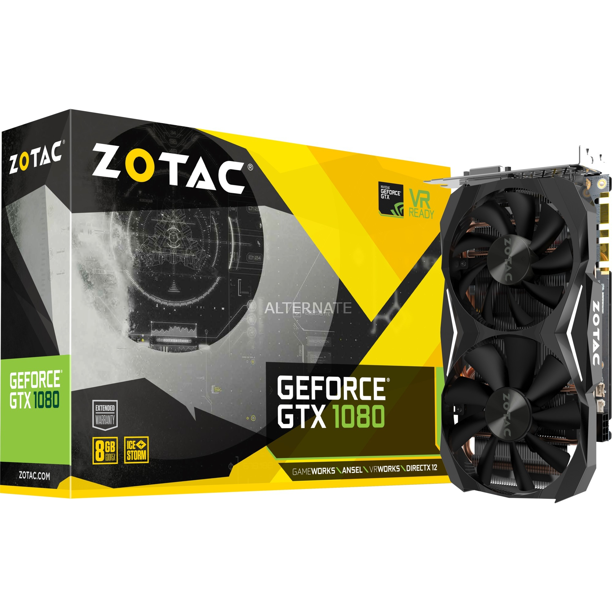 ZT-P10800H-10P GeForce GTX 1080 8Go GDDR5X carte graphique