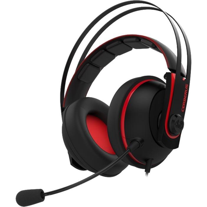 Cerberus V2 Binaural Bandeau Noir, Rouge Casque audio, Casque d'écoute