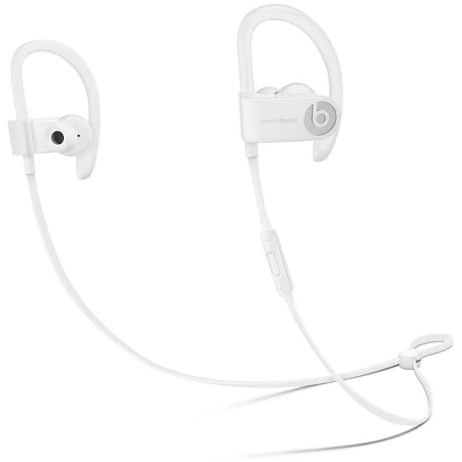 Powerbeats 3 crochet auricullaire, écouteur Binaural Sans fil Blanc casque et micro, Casque d'écoute