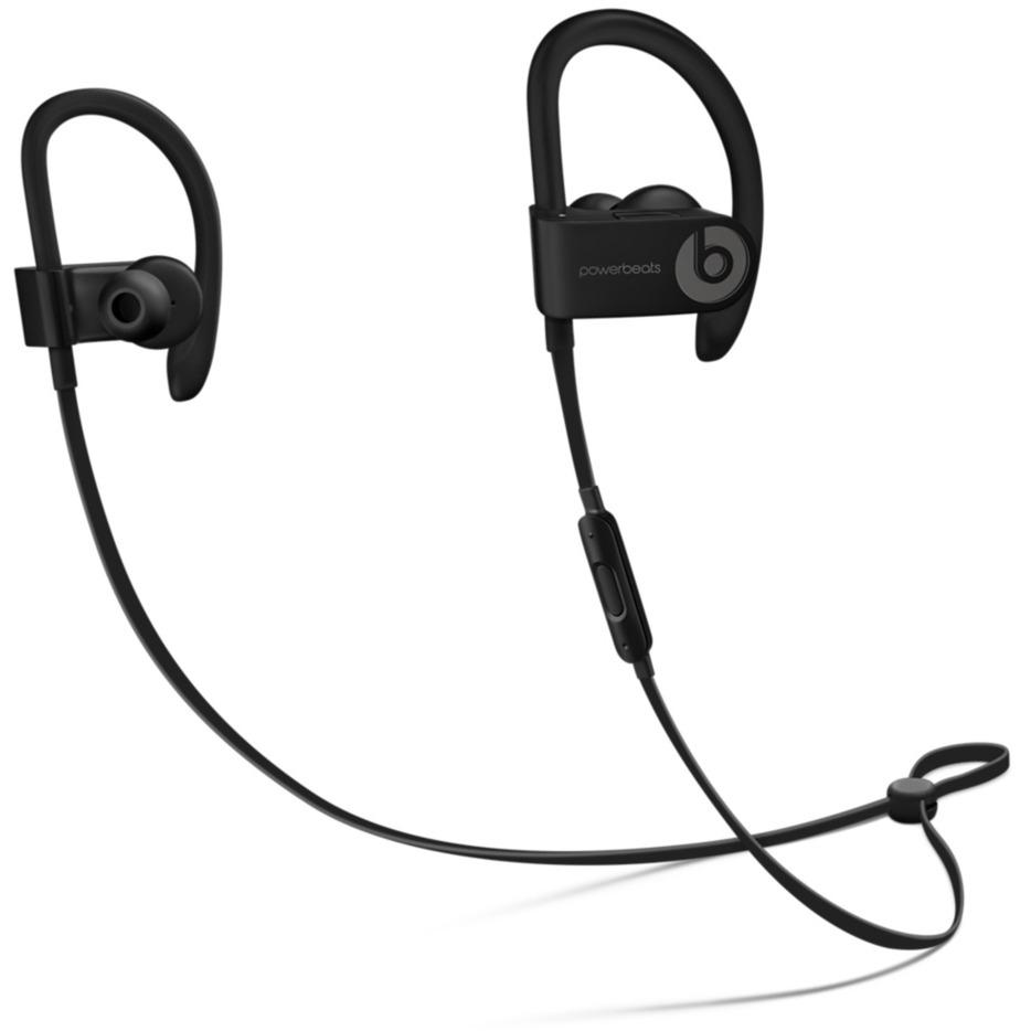 Powerbeats 3 crochet auricullaire, écouteur Binaural Sans fil Noir casque et micro, Casque d'écoute