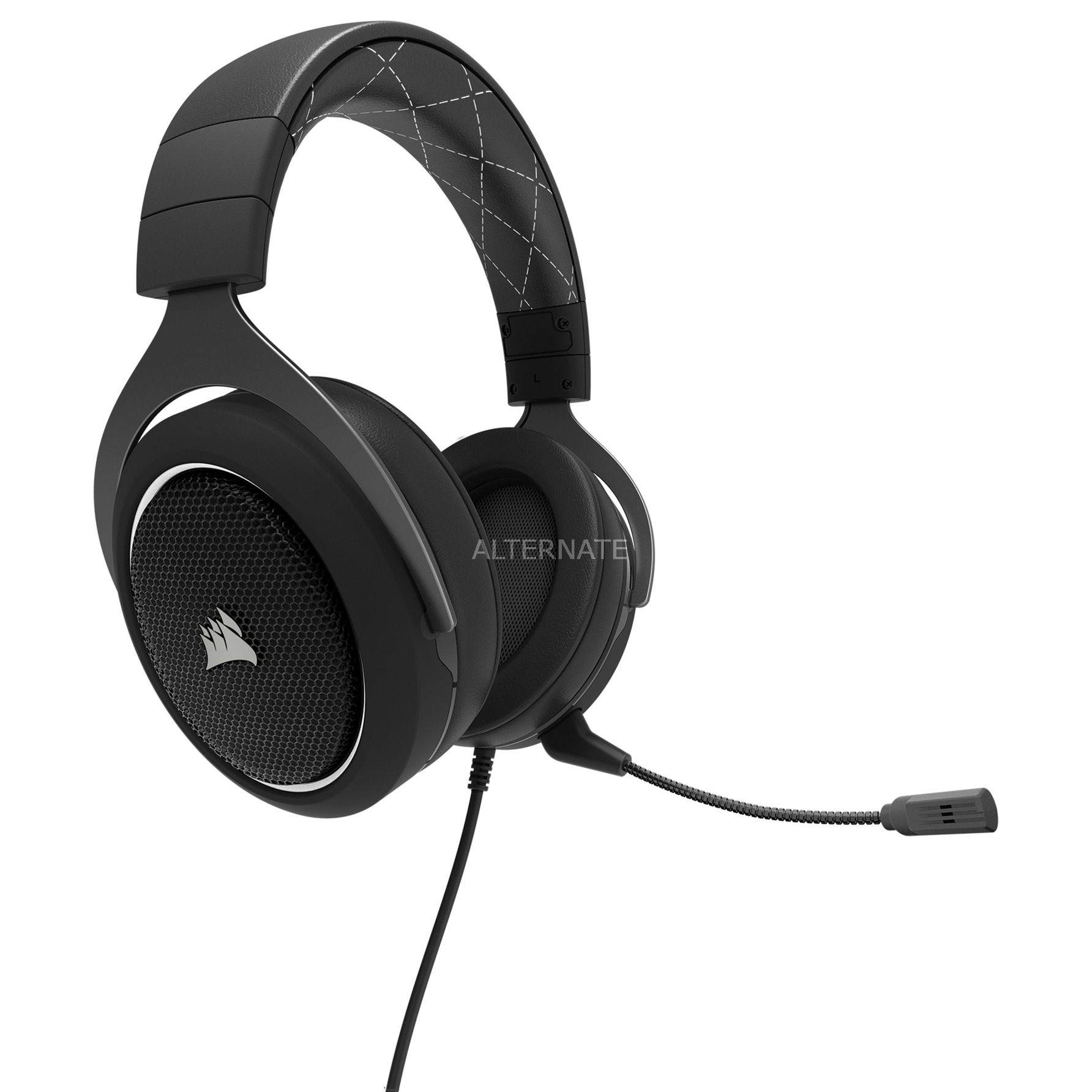 HS60 Binaural Bandeau Noir, Blanc Casque audio, Casque d'écoute