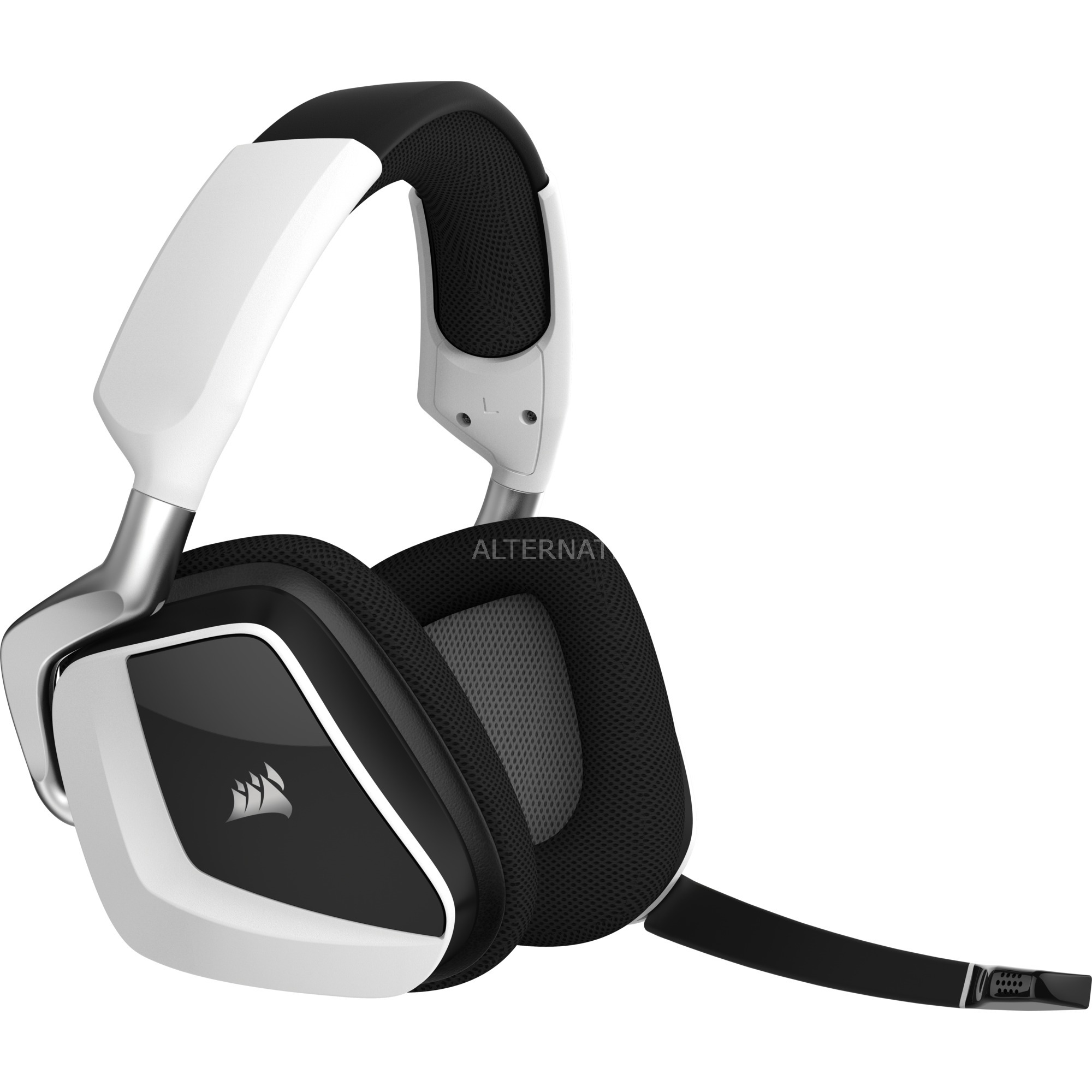 VOID PRO RGB Wireless Premium Binaural Bandeau Blanc Casque audio, Casque d'écoute