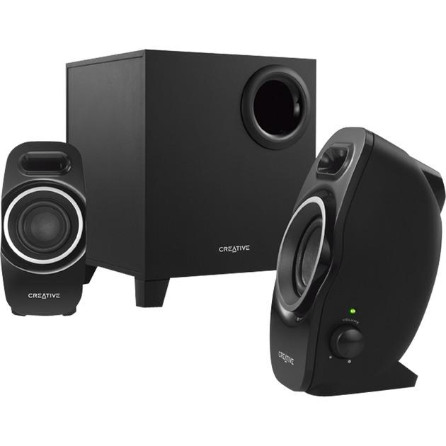 A250 2.1canaux Noir set d'enceintes, Haut-parleur PC