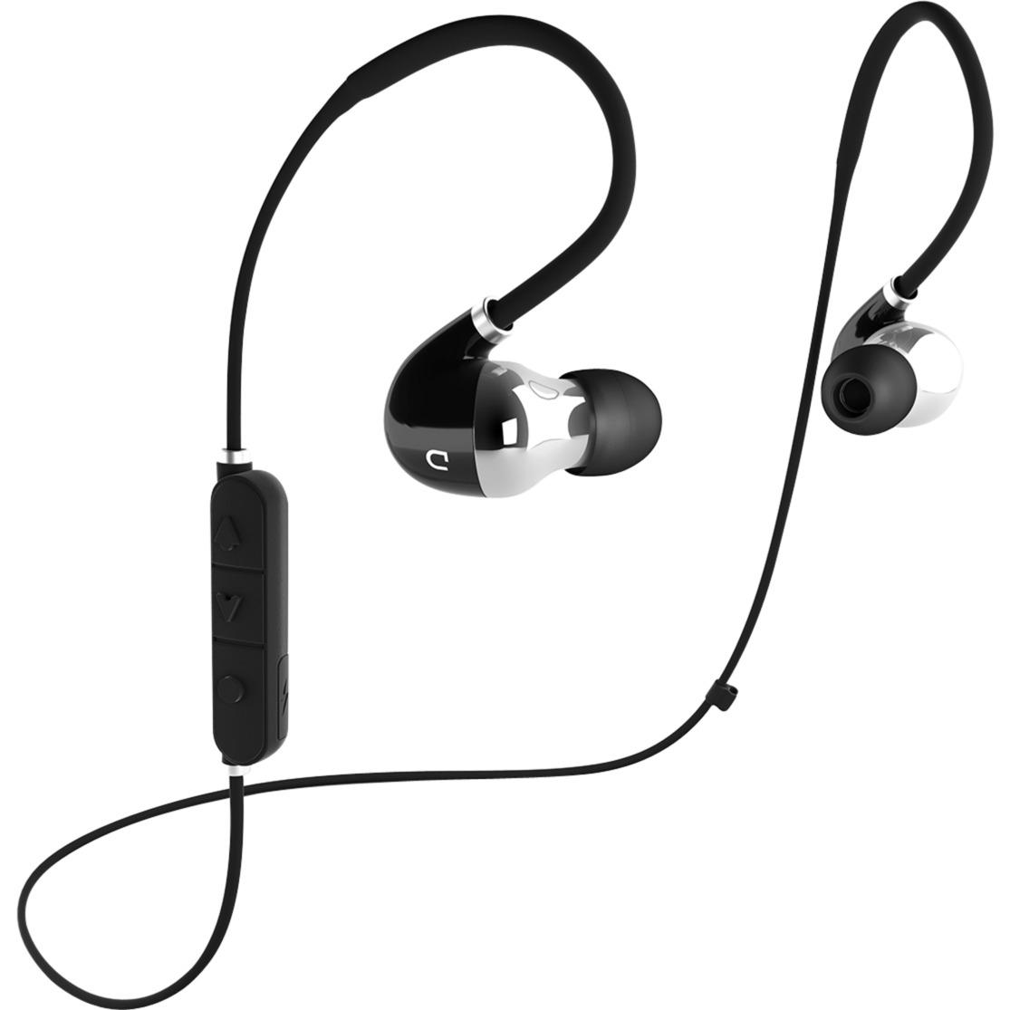 D MOVE écouteur Binaural Sans fil Noir, Argent casque et micro