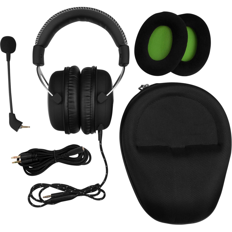 CloudX Pro Gaming Binaural Bandeau Noir Casque audio, Casque d'écoute