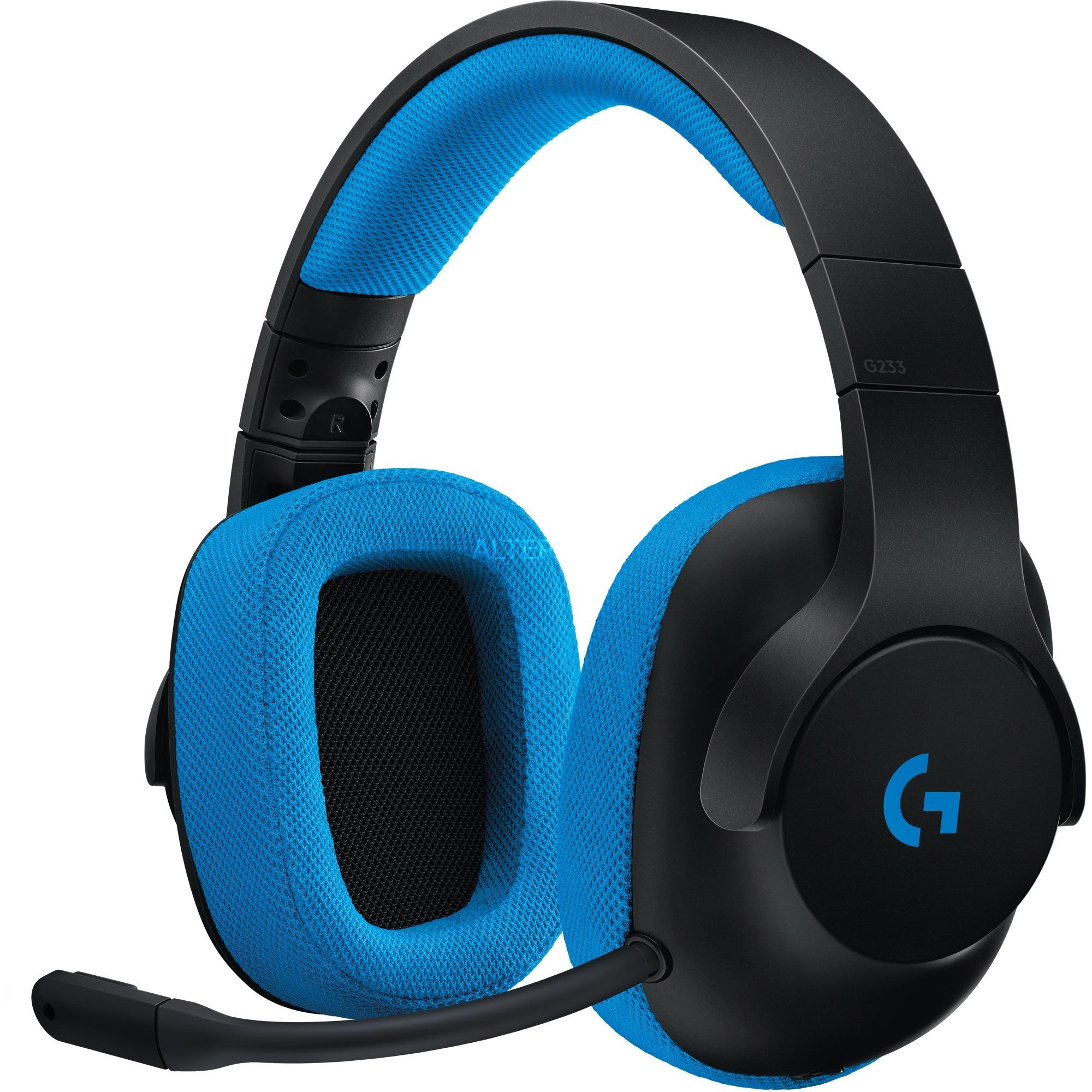 G233 Binaural Bandeau Noir, Bleu Casque audio, Casque d'écoute