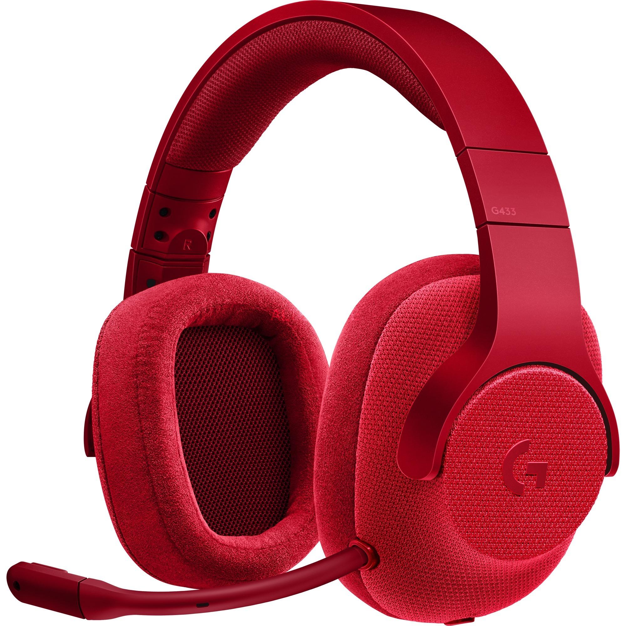 G433 Binaural Bandeau Rouge Casque audio, Casque d'écoute
