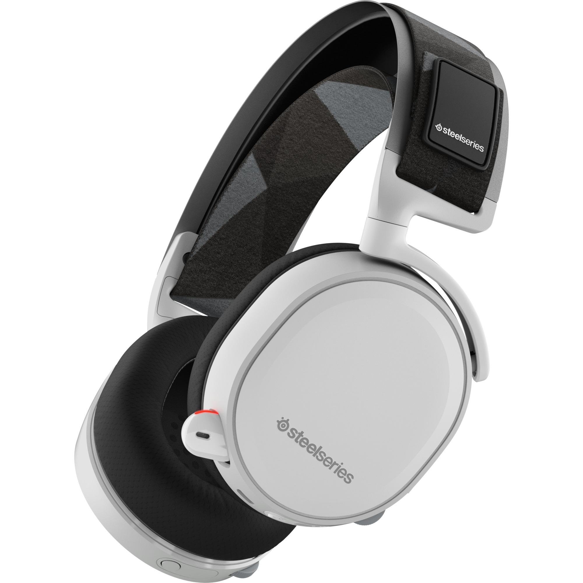 ARCTIS 7 Binaural Bandeau Noir, Blanc Casque audio, Casque d'écoute
