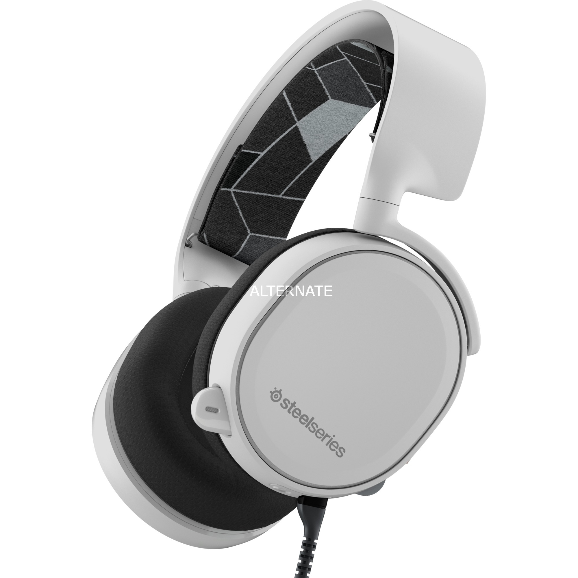 Arctis 3 Binaural Bandeau Blanc Casque audio, Casque d'écoute
