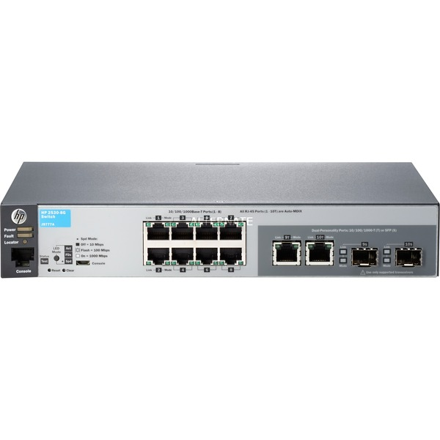 2530-8G Managed network switch L2 Gigabit Ethernet (10/100/1000) 1U Gris, Commutateur