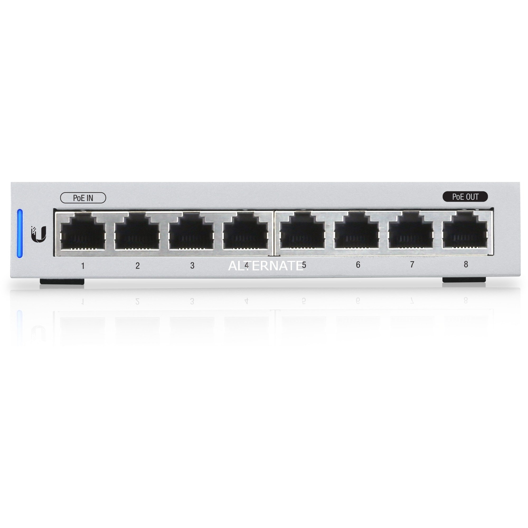 UniFi Switch 8 Commutateur de réseau géré Gigabit Ethernet (10/100/1000) Connexion Ethernet, supportant l'alimentation via ce port (PoE) Gris