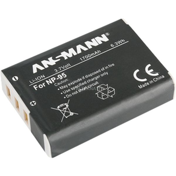 Batterie A-Fuj NP95 pour appareil photo Fuji NP95 3,7V/1700 mAh, Batterie appareil photo