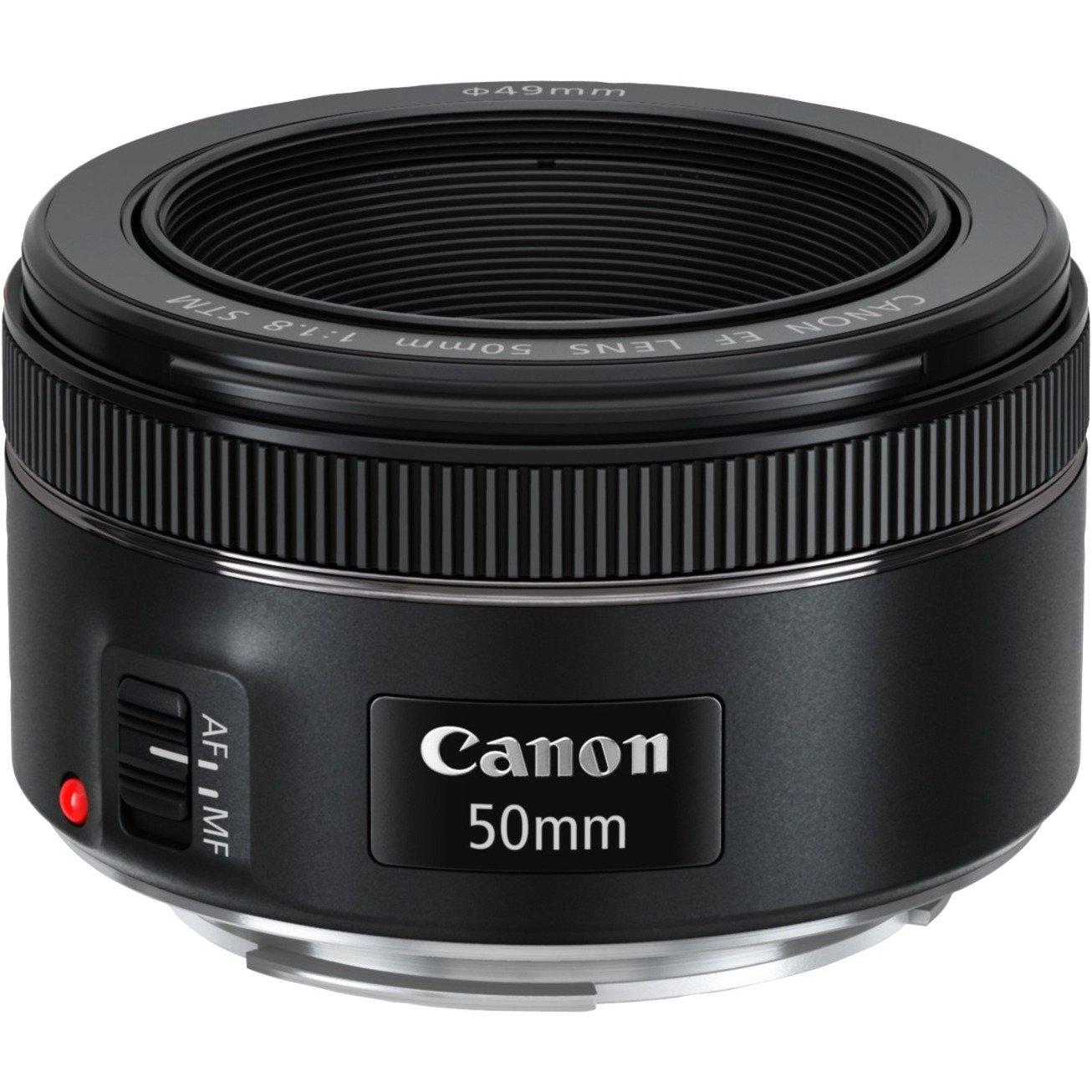 EF 50mm f/1.8 STM SLR Téléobjectif Noir, Lentille