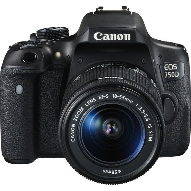 EOS 750D + EF-S 18-55mm Kit d'appareil-photo SLR 24.2MP CMOS 6000 x 4000pixels Noir, Appareil photo numérique