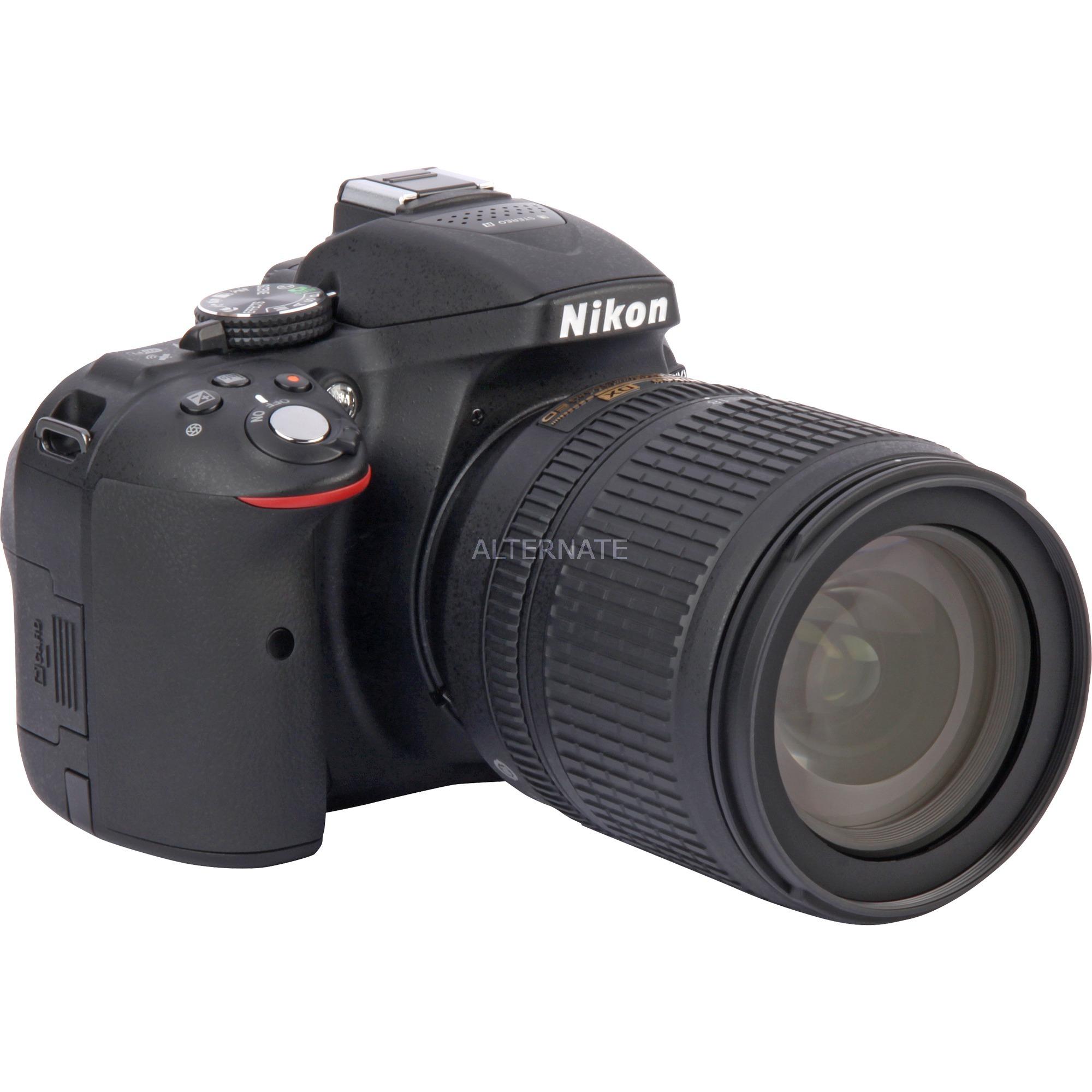 D5300 + AF-S DX NIKKOR 18-105mm Kit d'appareil-photo SLR 24.2MP CMOS 6000 x 4000pixels Noir, Appareil photo numérique
