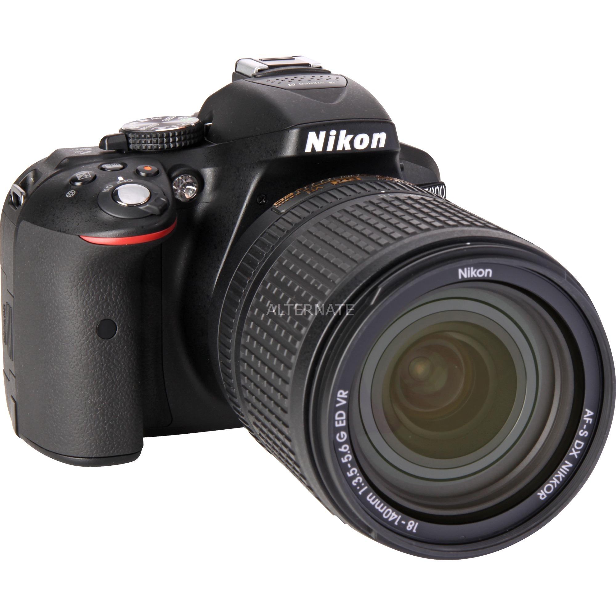 D5300 + AF-S DX NIKKOR 18-140mm VR Kit d'appareil-photo SLR 24.2MP CMOS 6000 x 4000pixels Noir, Appareil photo numérique